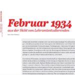 Der Februar 1934 aus Sicht von Studierenden
